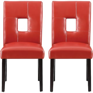 Bowden Dining Chairs (Set of 2) - Red
