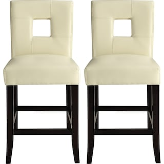 Bowden Counter-Height Chairs (Set of 2) - White