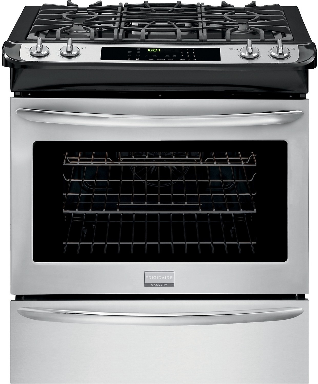 """Cooking Products - Fridigaire Premier Gallery 30"""" Slide-In Gas Range – Stainless Steel"""