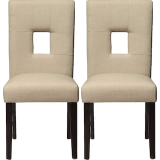 Bowden Dining Chairs (Set of 2) - Beige