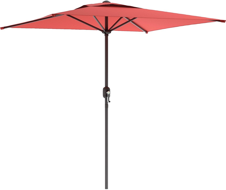 Outdoor Furniture - Square Patio Umbrella – Wine Red