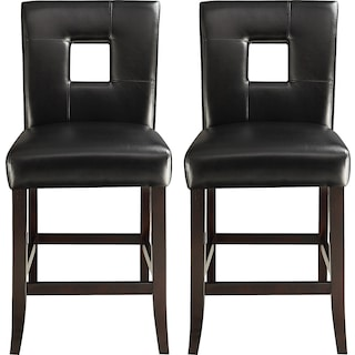 Bowden Counter-Height Chairs (Set of 2) - Black