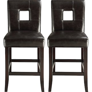 Bowden Brown 2-Pack Counter-Height Chairs