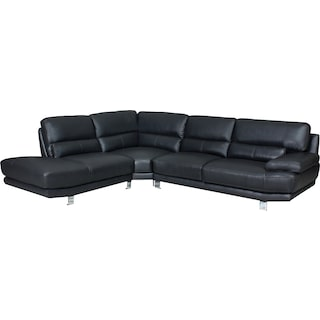 Newlyn Grey 3-Piece Left-Facing Chaise Sectional