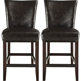 Roblin Brown 2-Pack Counter-Height Chairs