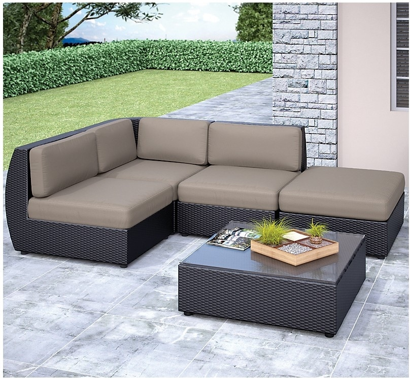 Outdoor Furniture - Penzance Patio Sectional and Table Set