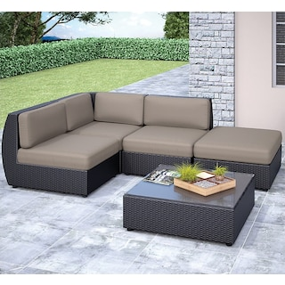 Penzance Patio Sectional and Table Set