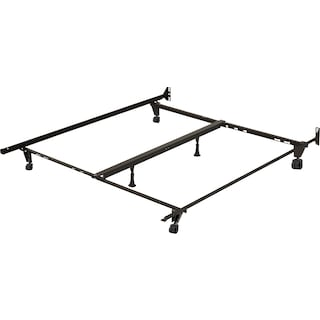 Deluxe Full/Queen/King Metal Bedframe with Castor Wheels