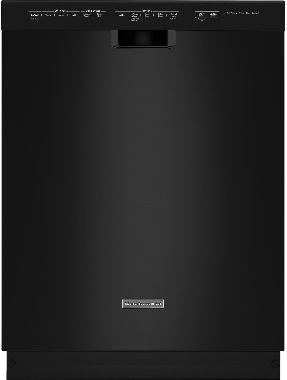 "Clean-Up - KitchenAid 24"" Built-In Dishwasher - Black"