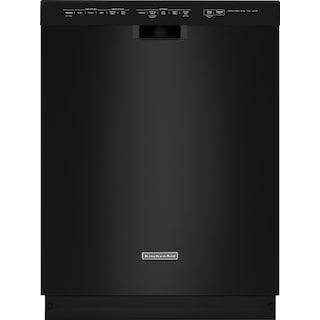 "KitchenAid 24"" Built-In Dishwasher - Black"