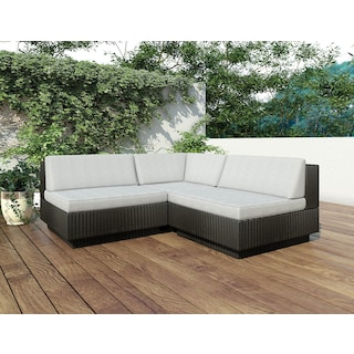Parkview Patio Sectional - Black