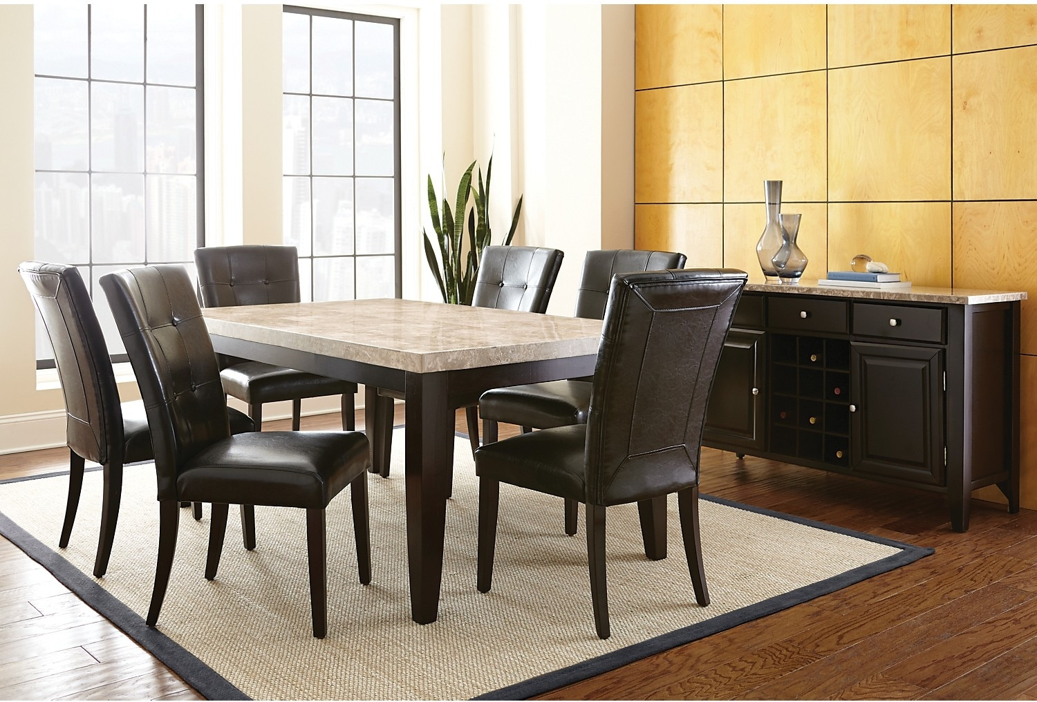 Dining Room Furniture - Dursley 8-Piece Dining Package