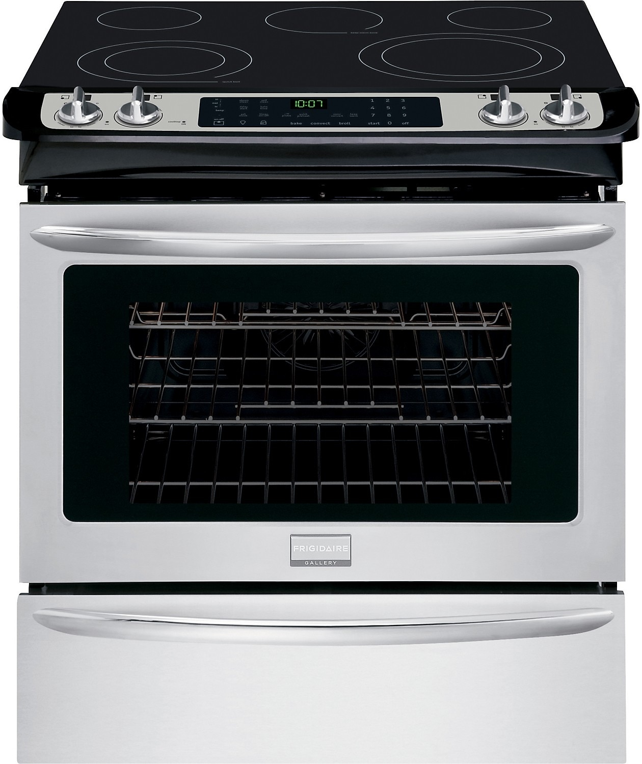"Cooking Products - Frigidaire Gallery 30"" Slide-In Self-Cleaning Electric Range – Stainless Steel"