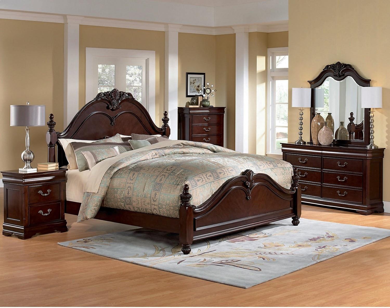 Bedroom Furniture - King Bedroom Package Abbeydale 6-Piece