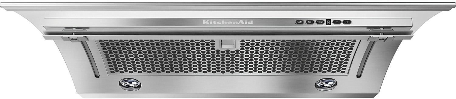 "Cooking Products - KitchenAid 36"" Slide-Out Ventilation Hood - Stainless Steel"