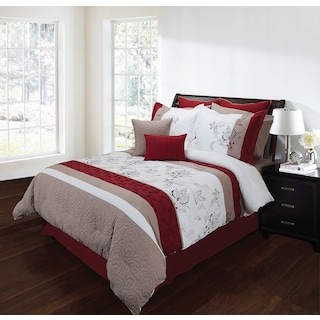 Acle 8-Piece Queen Comforter Set