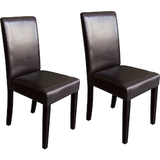 Wigan Brown 2-Pack Dining Chairs