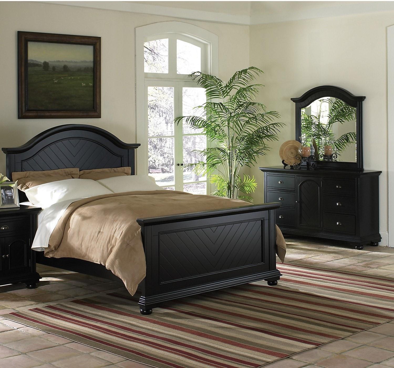 Bedroom Furniture - Casey Black 5-Piece Full Bedroom Package