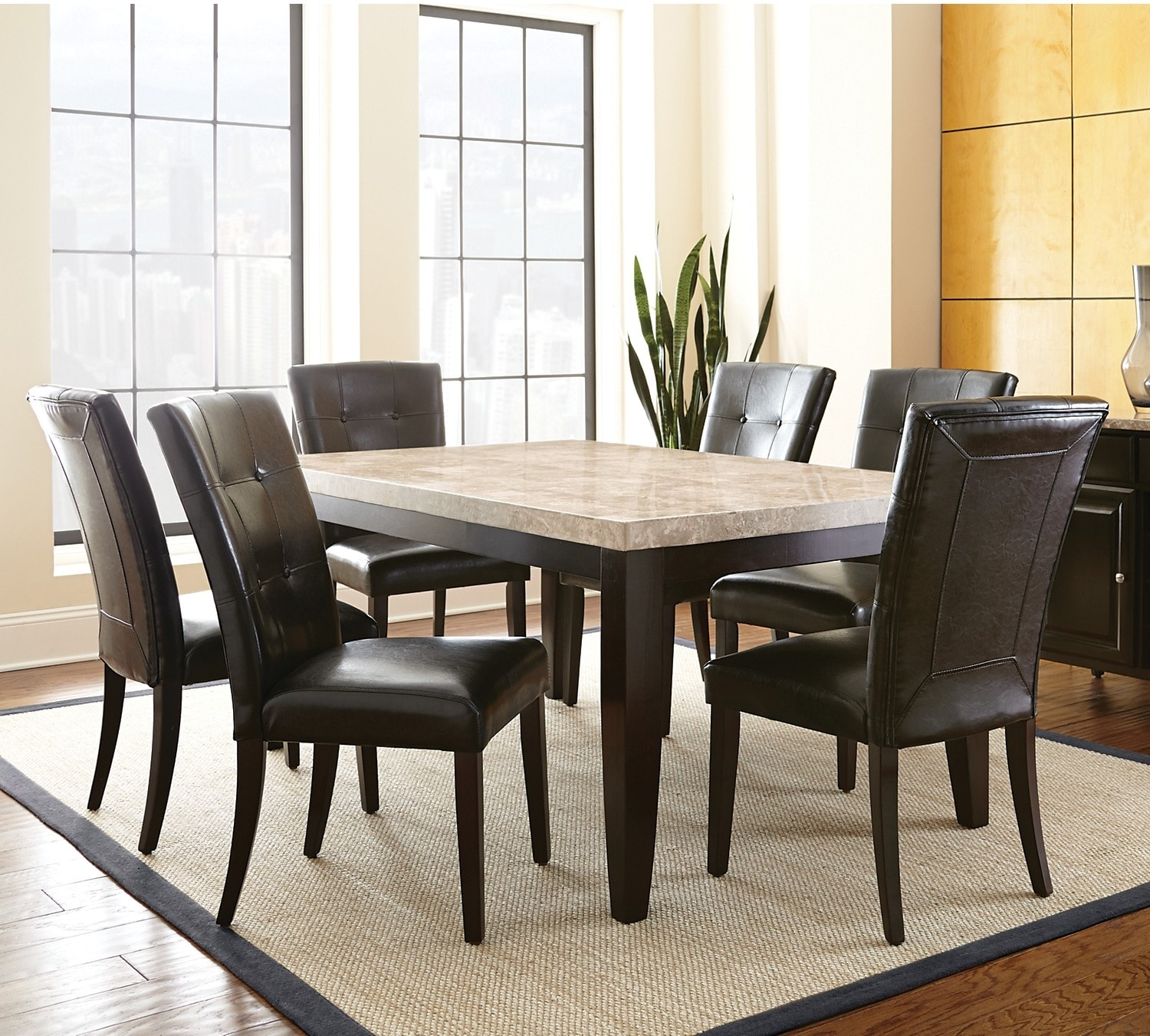 Dining Room Furniture - Dursley 7-Piece Dining Package