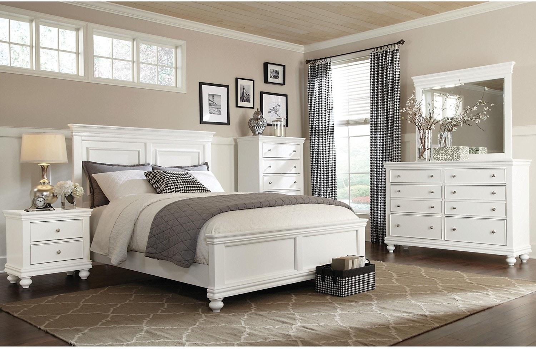 Bedroom Furniture - Gladstone White 8-Piece King Bedroom Package