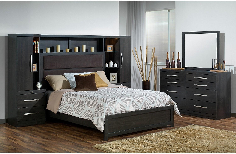 Pier furniture danske 5 piece king bed combo for Bedroom 5 piece sets