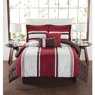 Taastrup 8-Piece Queen Comforter Set