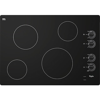 """Whirlpool 30"""" Electric Cooktop with Schott Ceran® Surface - Black"""