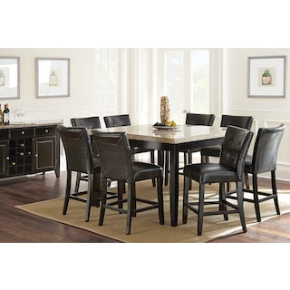 Dursley 8-Piece Counter-Height Dining Package