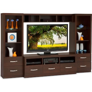 Selkirk 4-Piece Entertainment Wall Unit