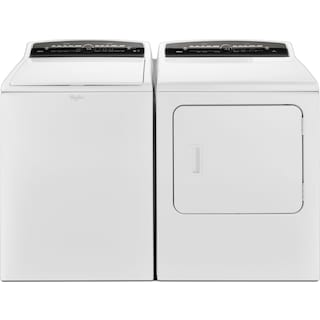 Whirlpool® Cabrio® 5.0 Cu. Ft. Top-Load Washer and 7.0 Cu. Ft. Gas Dryer - White