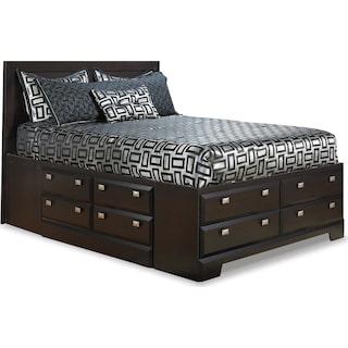 Appleton Dark Full Storage Bed