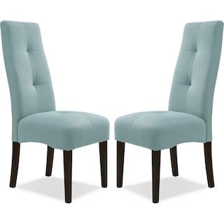 Abbotsly Chairs (Set of 2) - Aqua