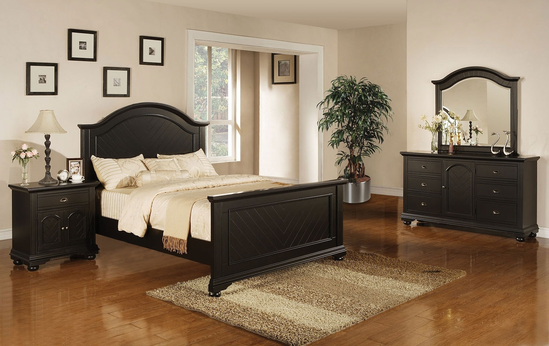 Bedroom Furniture - Casey Black 6-Piece Full Bedroom Package
