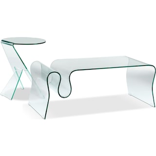 Solar 3-Piece Table Set - Clear
