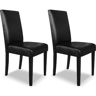 Ampton Black 2-Pack Dining Chairs