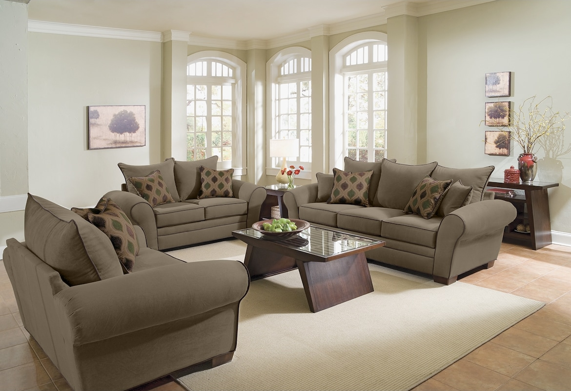 Living Room Furniture - The Strauss Olive Collection - Sofa