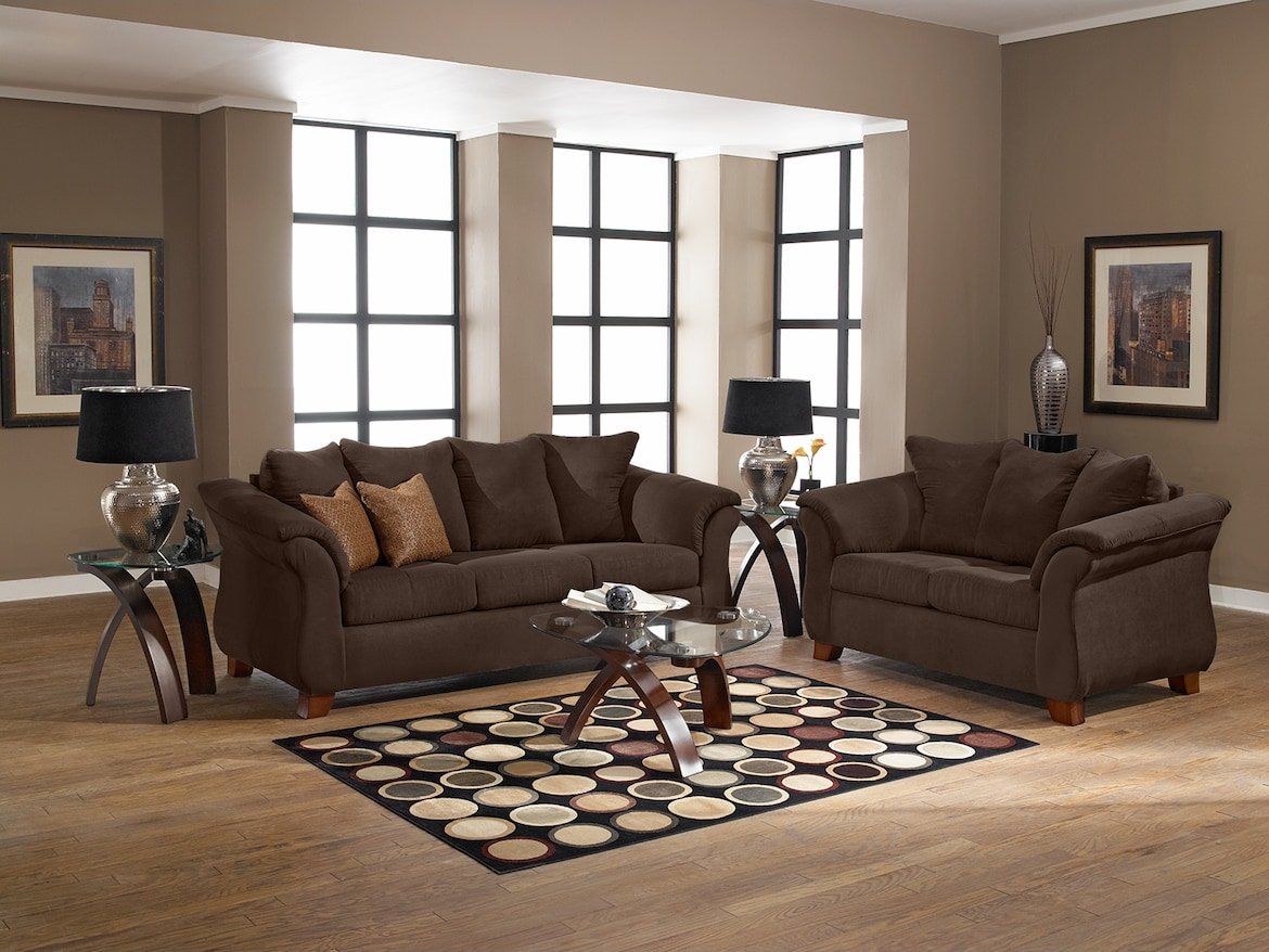 Living Room Furniture - The Perry Chocolate Collection - Sofa