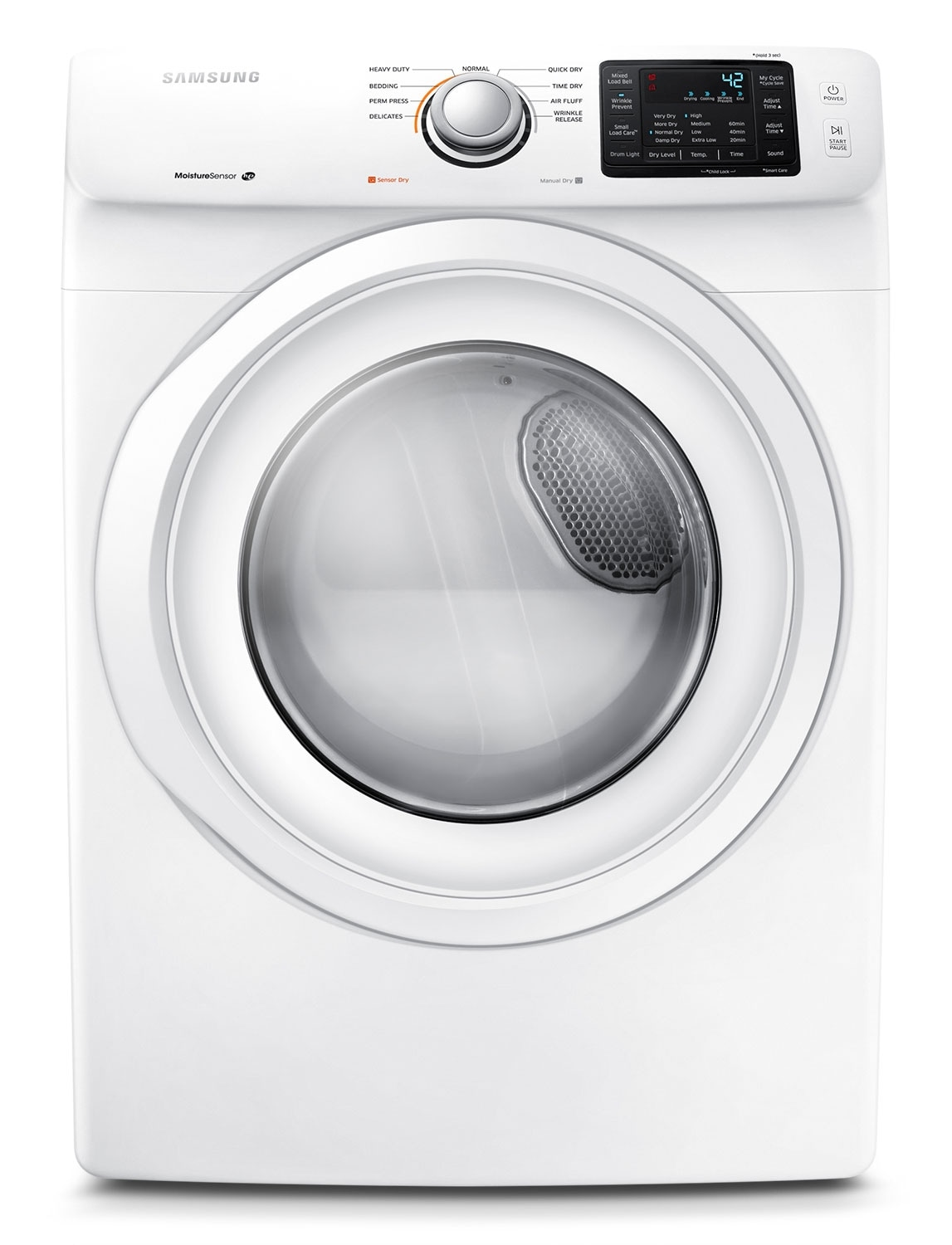 Washers and Dryers - Samsung 7.5 Cu. Ft. Electric Dryer - White