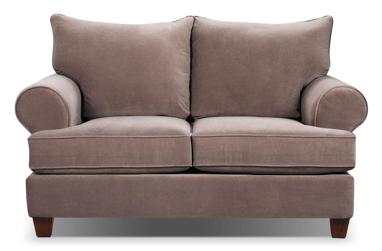 Living Room Furniture - Prescot Loveseat - Stone