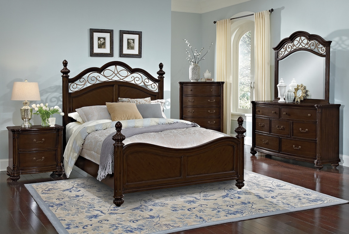 Bedroom Furniture - The Lowell Collection - Queen Bed