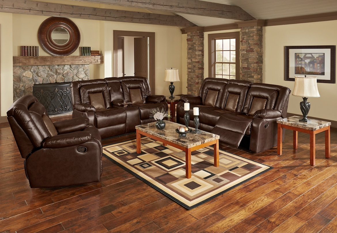 Living Room Furniture - The Ketchum Collection - Reclining Sofa