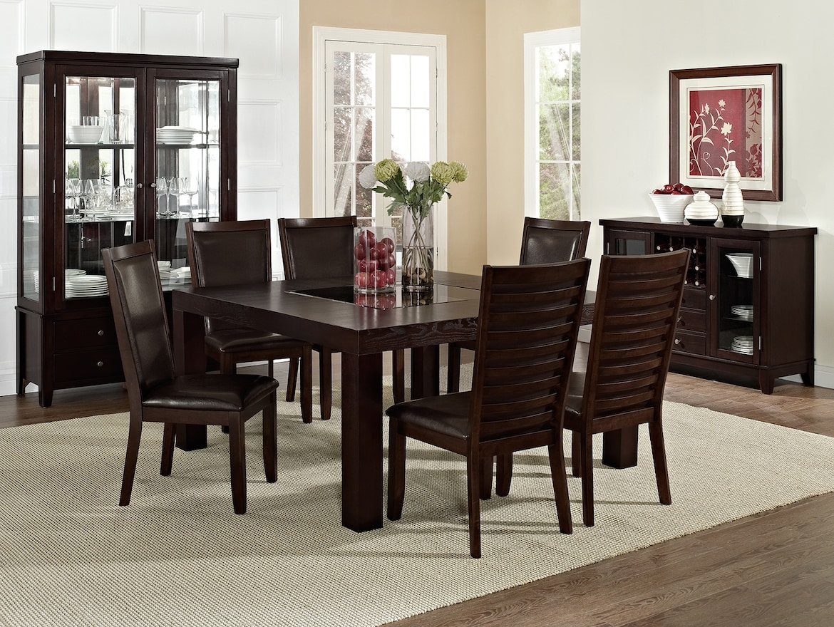 "Dining Room Furniture - The Karmon Costa Brown Collection - 60"" Dining Table"