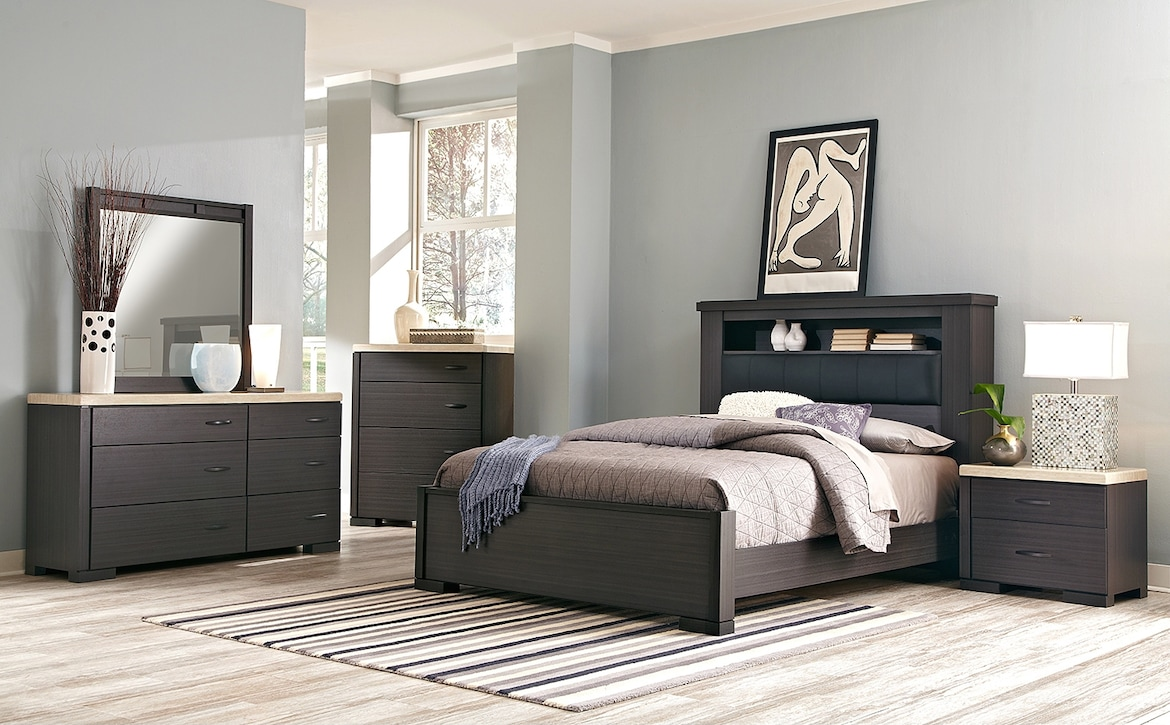 Bedroom Furniture - The Paseo Collection - 7 Pc. Queen Bedroom