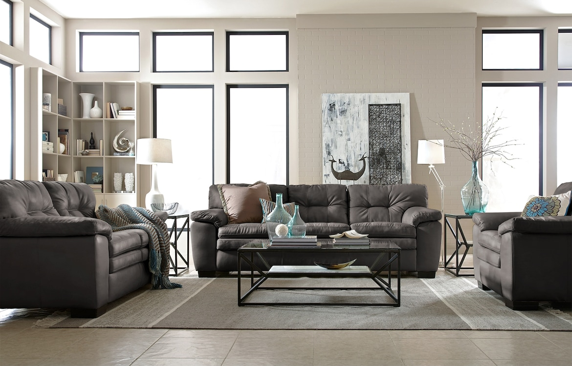 Living Room Furniture - The Revere Gray Collection - Sofa