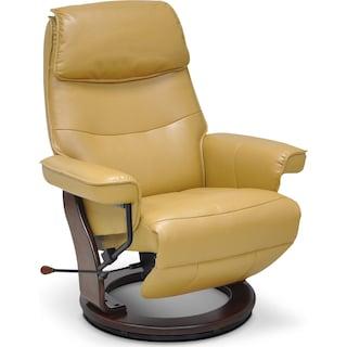 Shildon Saddle Recliner - Yellow