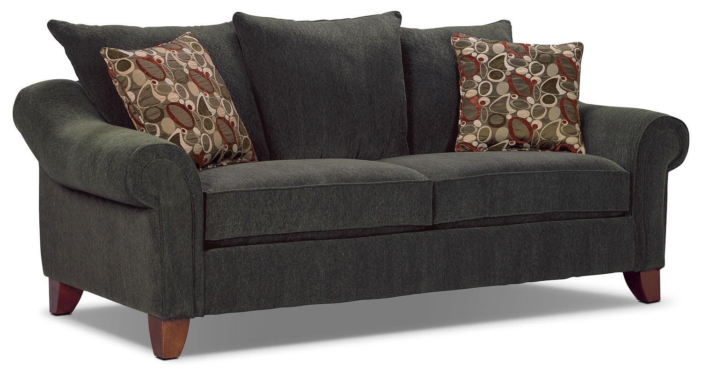 Rochester dark grey sofa for Living room furniture rochester ny