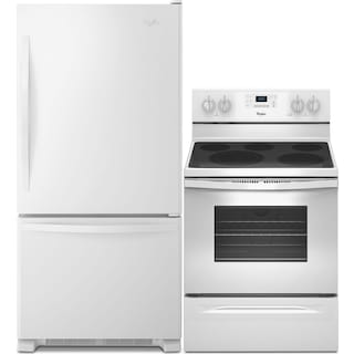 Whirlpool® 18.5 Cu. Ft. Refrigerator and 5.3 Cu. Ft. Electric Range Package