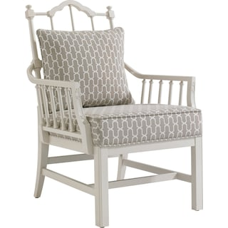 Chippendale Planter's Chair - Ropemaker's White