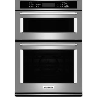 "KitchenAid 27"" Combination Wall Oven with Even-Heat™ True Convection - Stainless Steel"