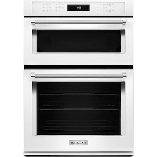 "KitchenAid 27"" Combination Wall Oven with Even-Heat™ True Convection - White"
